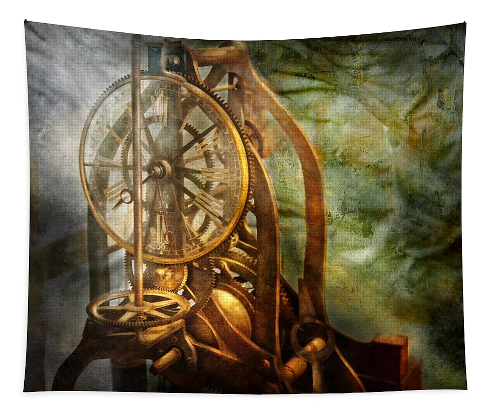 Hdr Tapestry featuring the photograph Clockmaker - The Day Time Stood Still by Mike Savad
