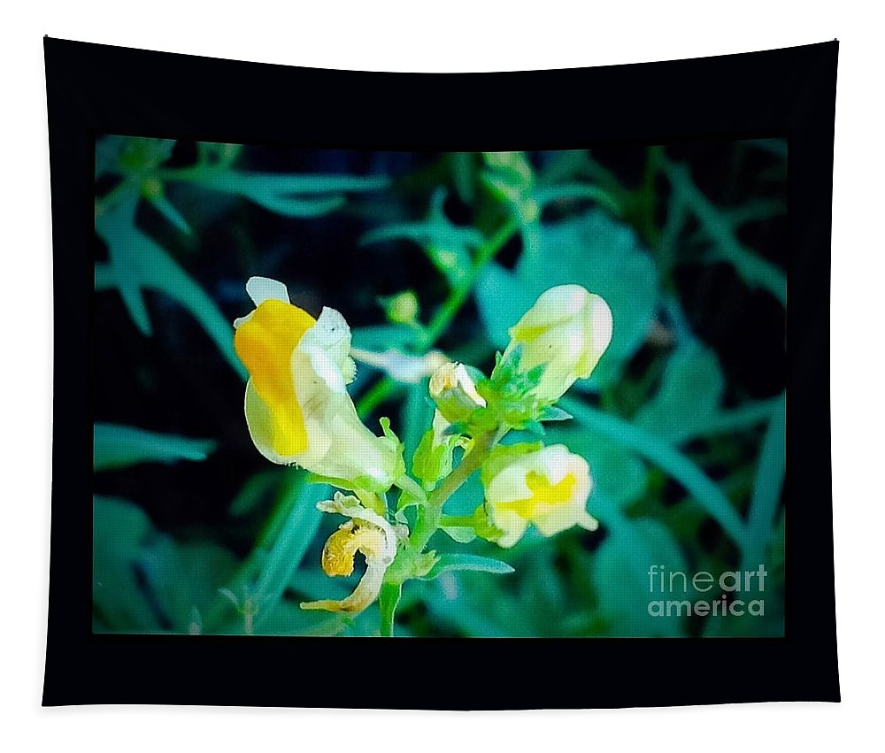 Yellow Tapestry featuring the photograph Close Up Of Yellow Wild Flowers by Debra Lynch