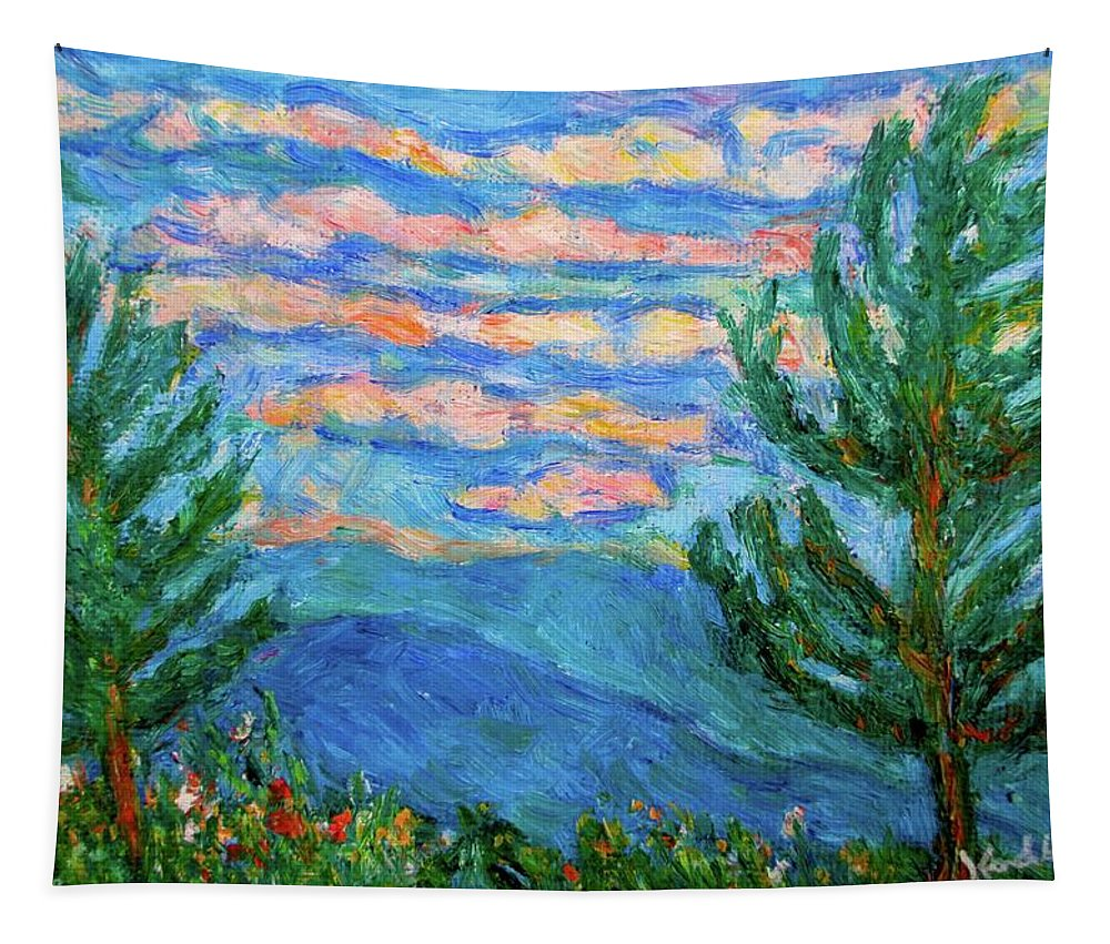 Landscape Tapestry featuring the painting Cloud Color by Kendall Kessler