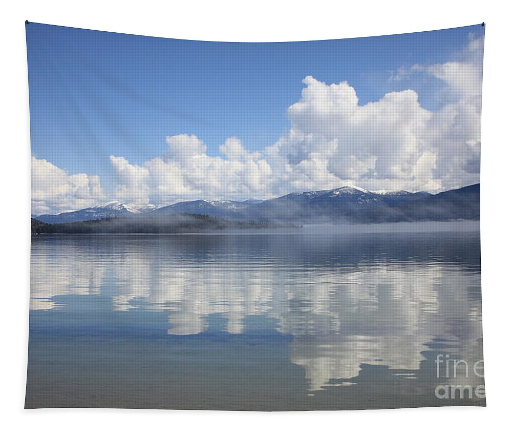 Clouds Tapestry featuring the photograph Cloud Reflection On Priest Lake by Carol Groenen