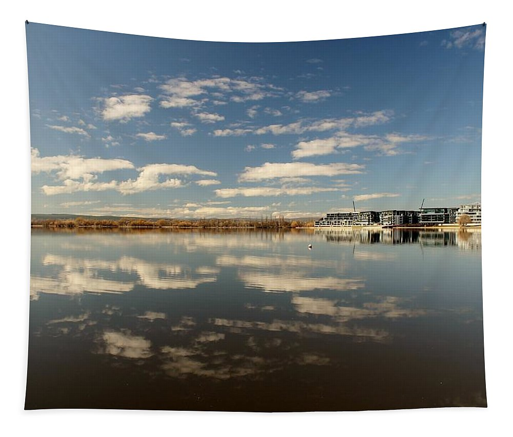 Morning Tapestry featuring the photograph Cloud Reflections by Anthony Croke
