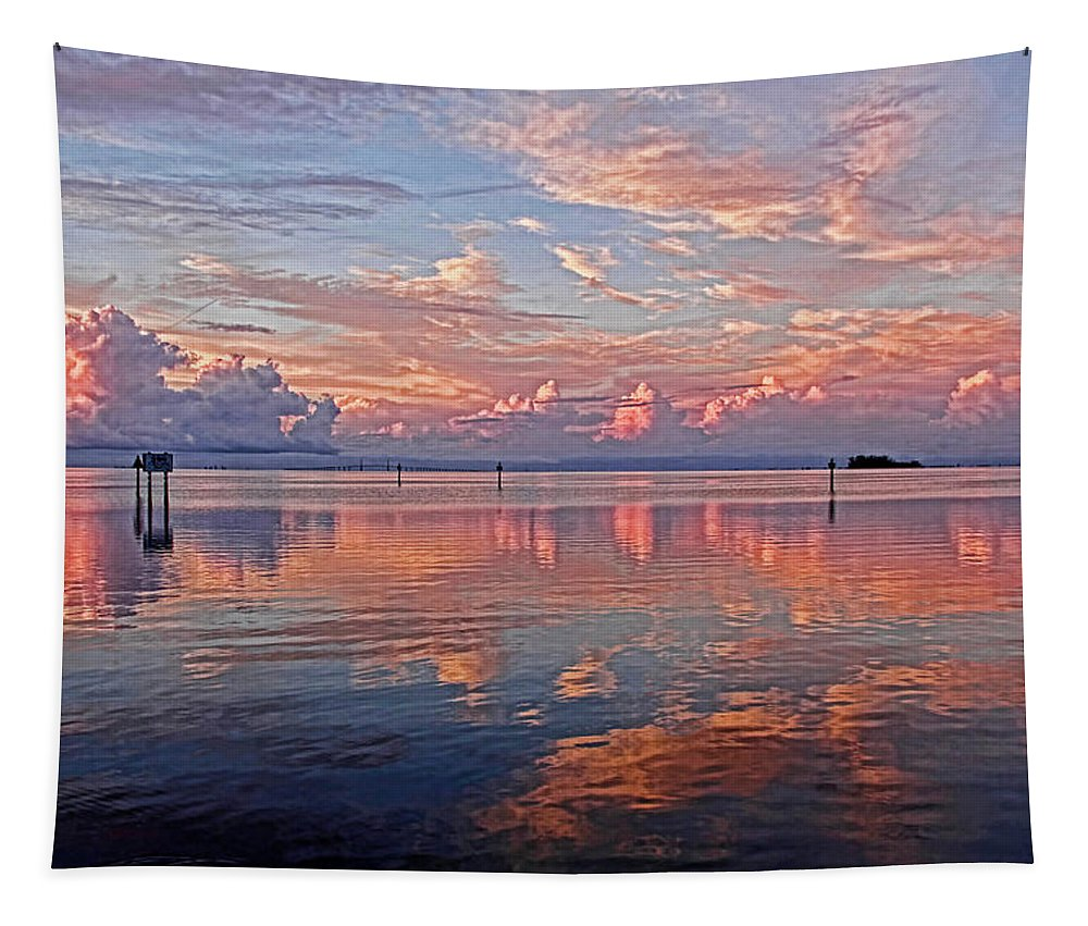 Cloudscape Tapestry featuring the photograph Clouds - Almost Heaven by HH Photography of Florida