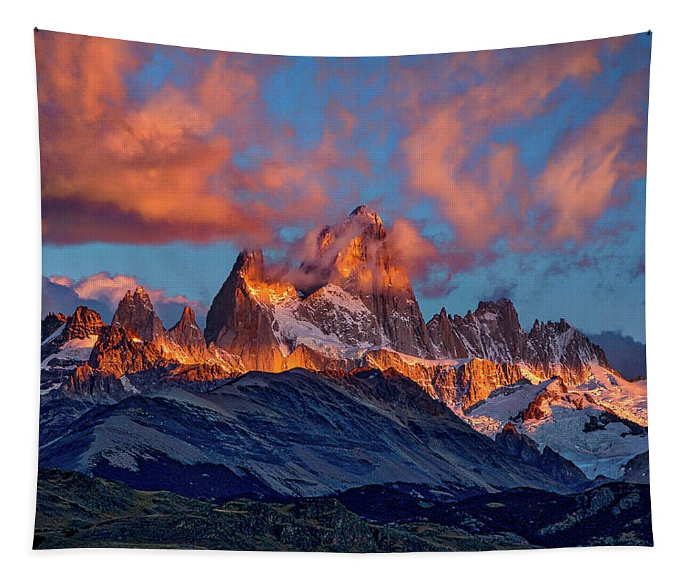 Patagonia Tapestry featuring the photograph Clouds Around Fitz Roy - Patagonia by Stuart Litoff