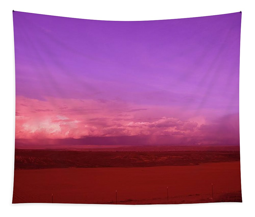 Clouds Tapestry featuring the photograph Clouds On The Horizon by Jeff Swan