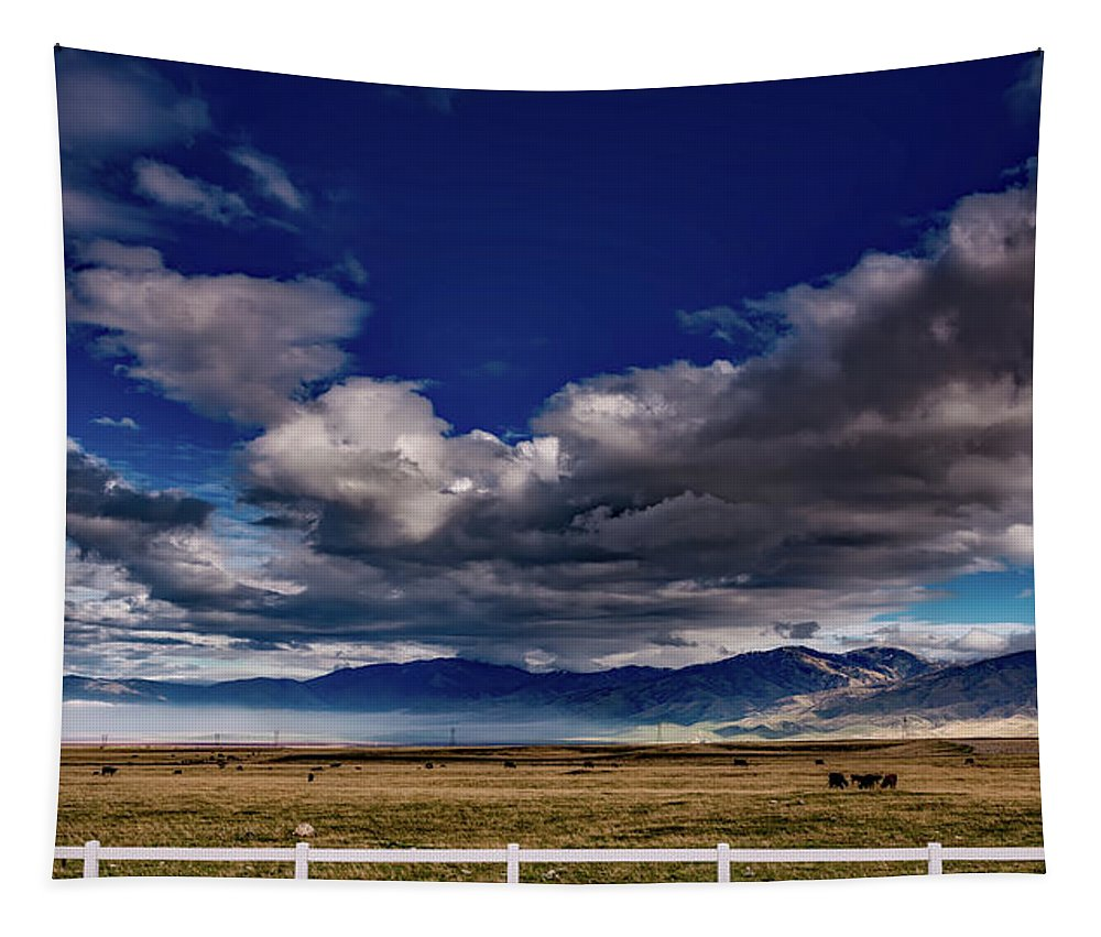 California Tapestry featuring the photograph Clouds Over California by Mountain Dreams