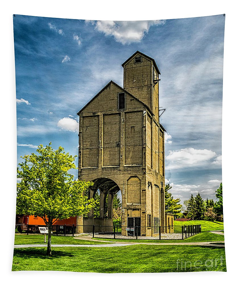 Coaling Tower Tapestry featuring the photograph Coaling Tower by Nick Zelinsky