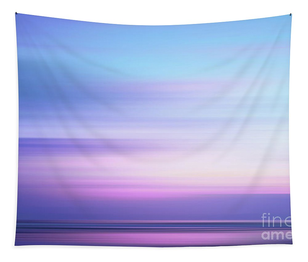 Abstract Tapestry featuring the photograph Coastal Horizon 4 by Delphimages Photo Creations