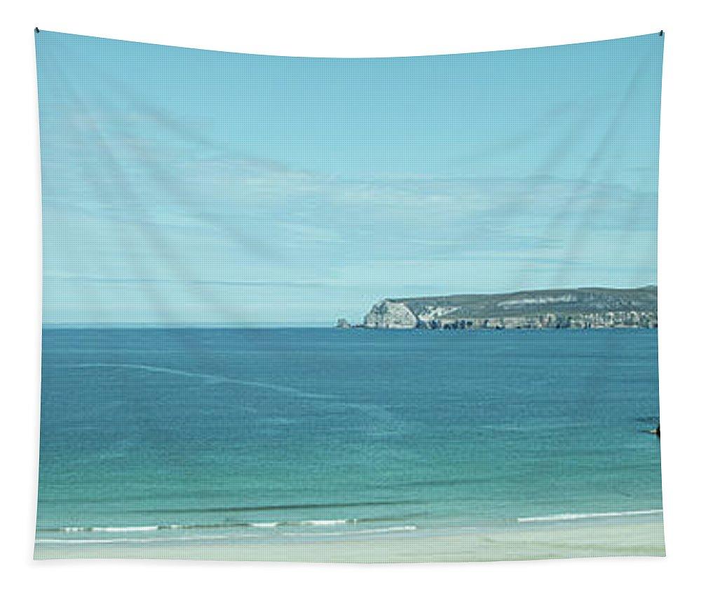 Atlantic Ocean Tapestry featuring the photograph Coastal Panorama Near Durness by Teresa Wilson