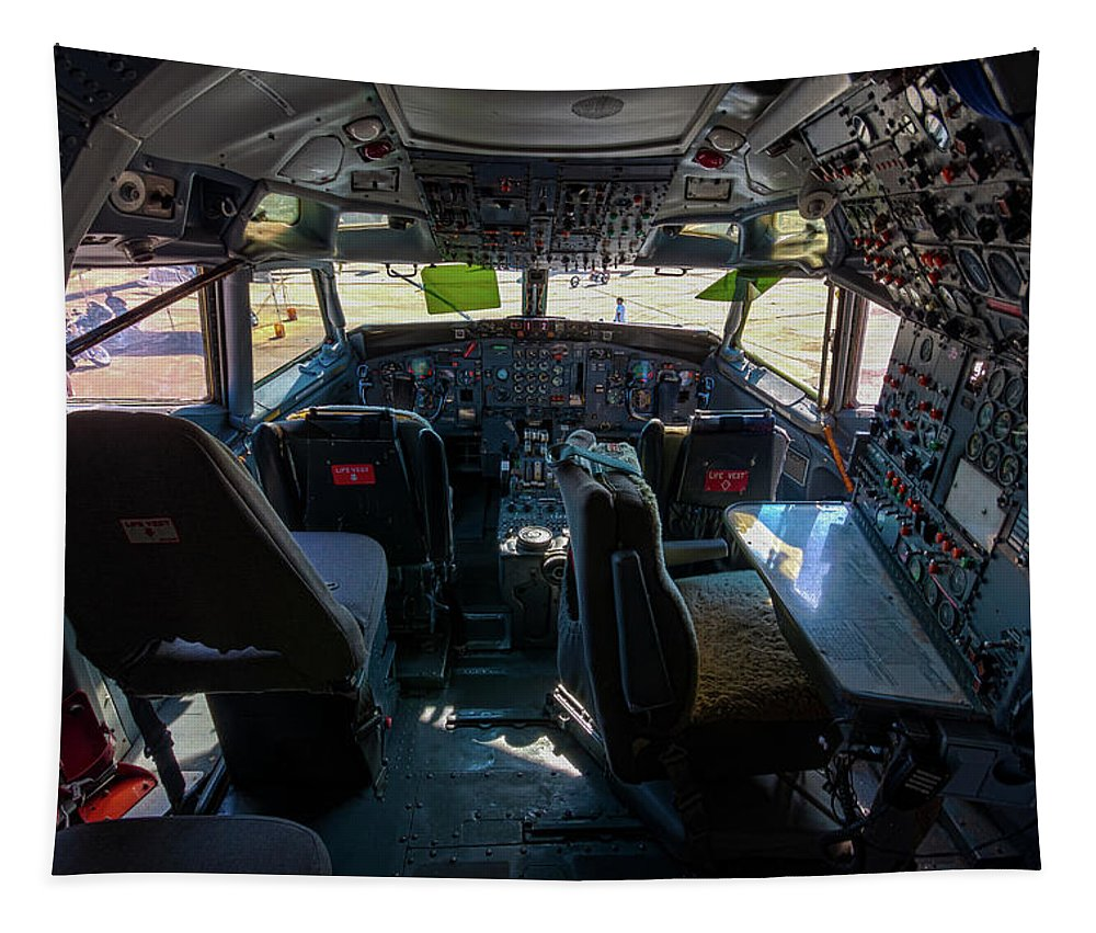 Jay Stockhaus Tapestry featuring the photograph Cockpit by Jay Stockhaus