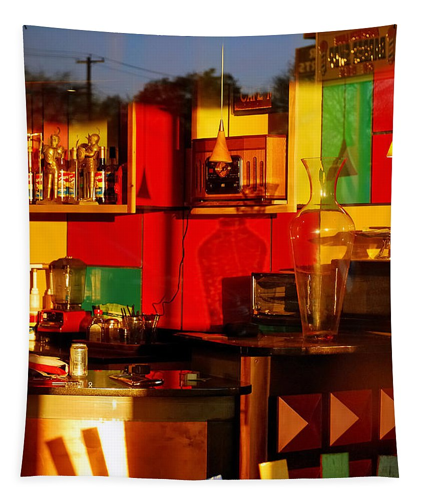 Skip Hunt Tapestry featuring the photograph Coffee Shop by Skip Hunt