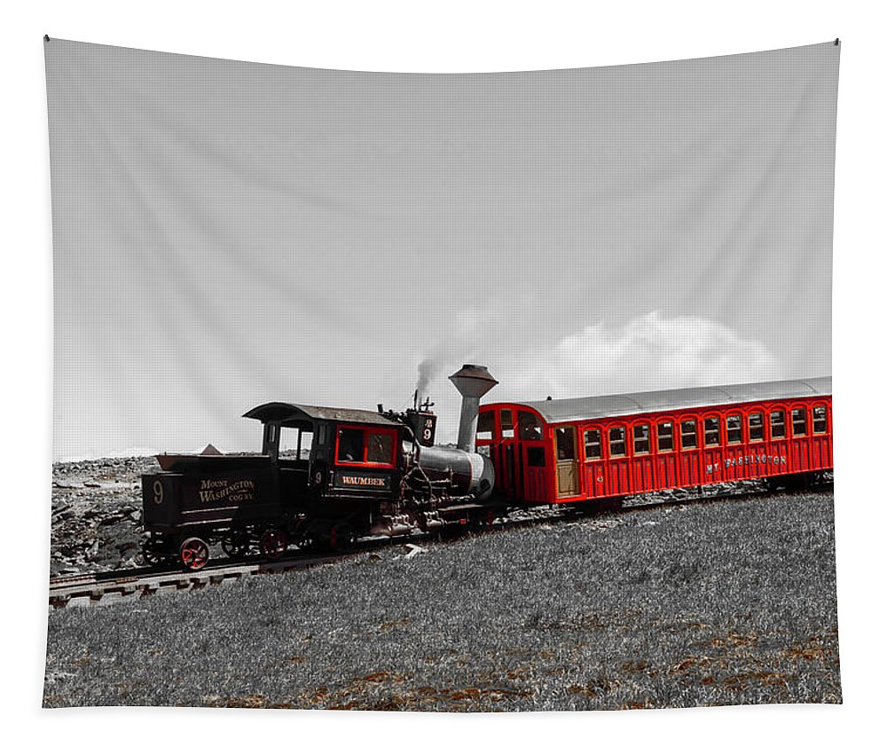 Sky Tapestry featuring the photograph Cog Railroad by Sherman Perry