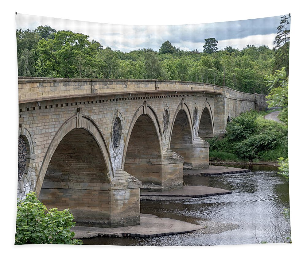 Arch Tapestry featuring the photograph Coldstream Bridge 1807 by Teresa Wilson