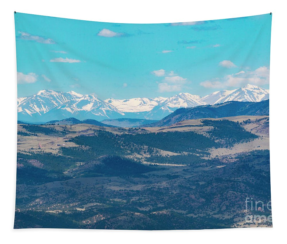 Collegiate Peaks Tapestry featuring the photograph Collegiate Peaks From Little Grouse Mountain by Steve Krull