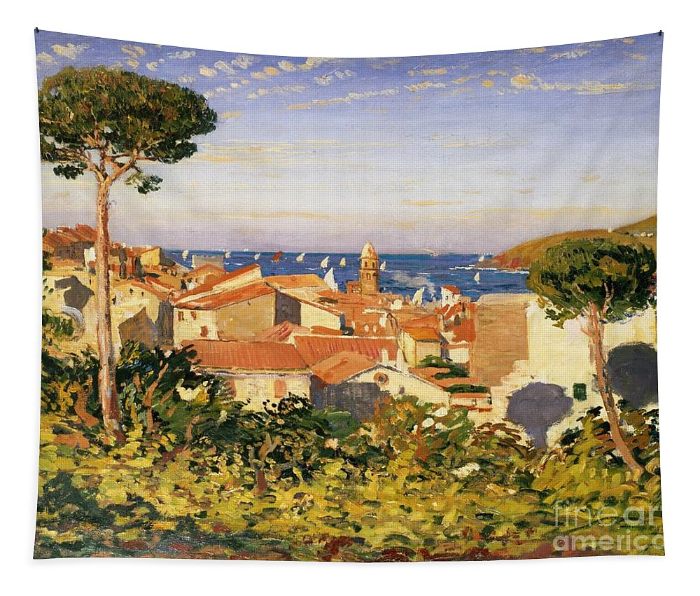 Collioure Tapestry featuring the painting Collioure by James Dickson Innes