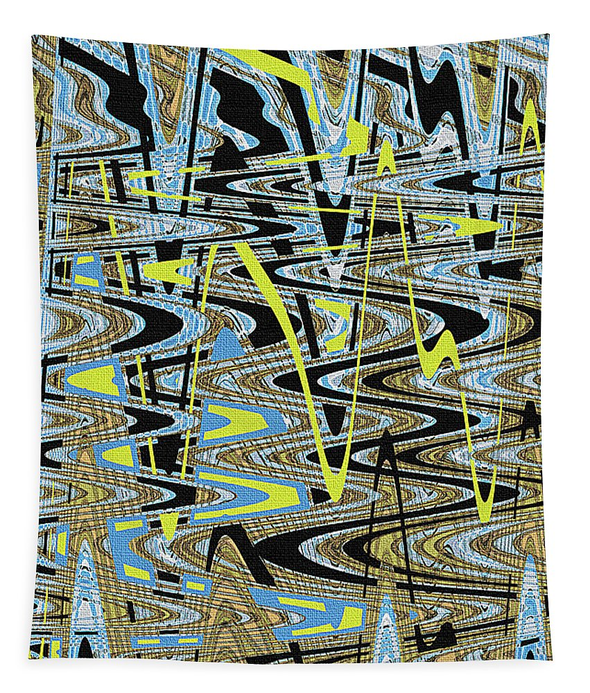 Color Combo Abstraction Tapestry featuring the photograph Color Combo Abstraction by Tom Janca