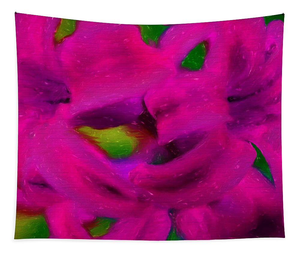 Flowers Tapestry featuring the mixed media Color Schemes by Debra Lynch