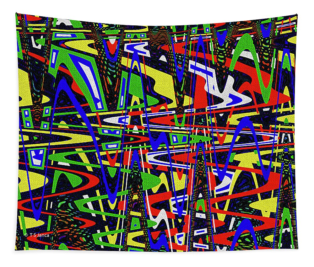 Color Works Abstract Tapestry featuring the photograph Color Works Abstract by Tom Janca