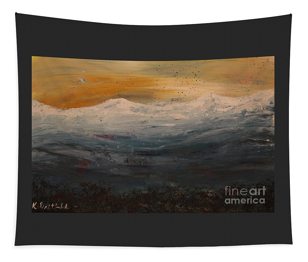 Abstract Tapestry featuring the painting Colorado by Karla Britfeld