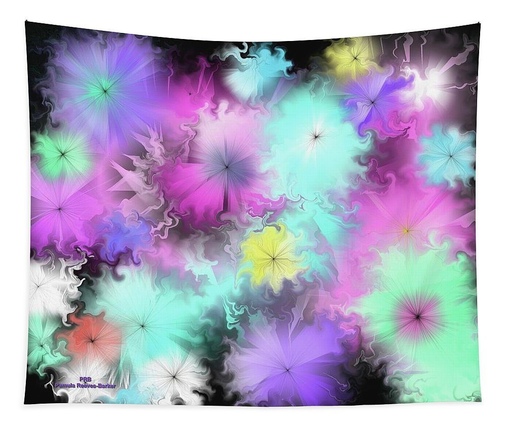 Colorful Tapestry featuring the digital art Colorful Blobs by Pamula Reeves-Barker
