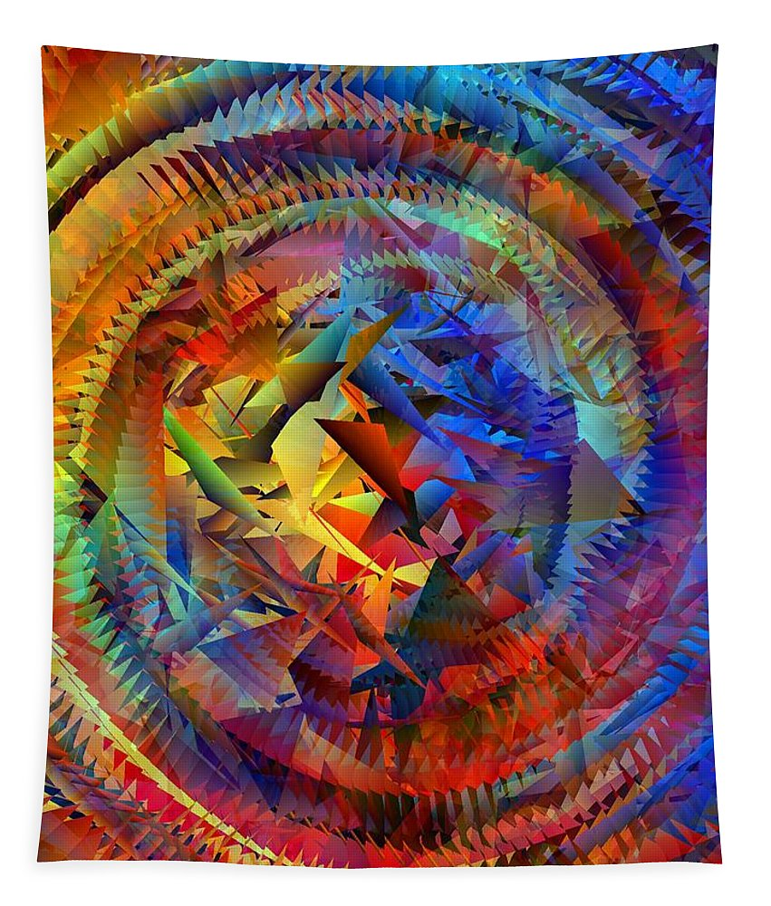 Colorful Tapestry featuring the digital art Colorful Crash 10 by Chris Butler