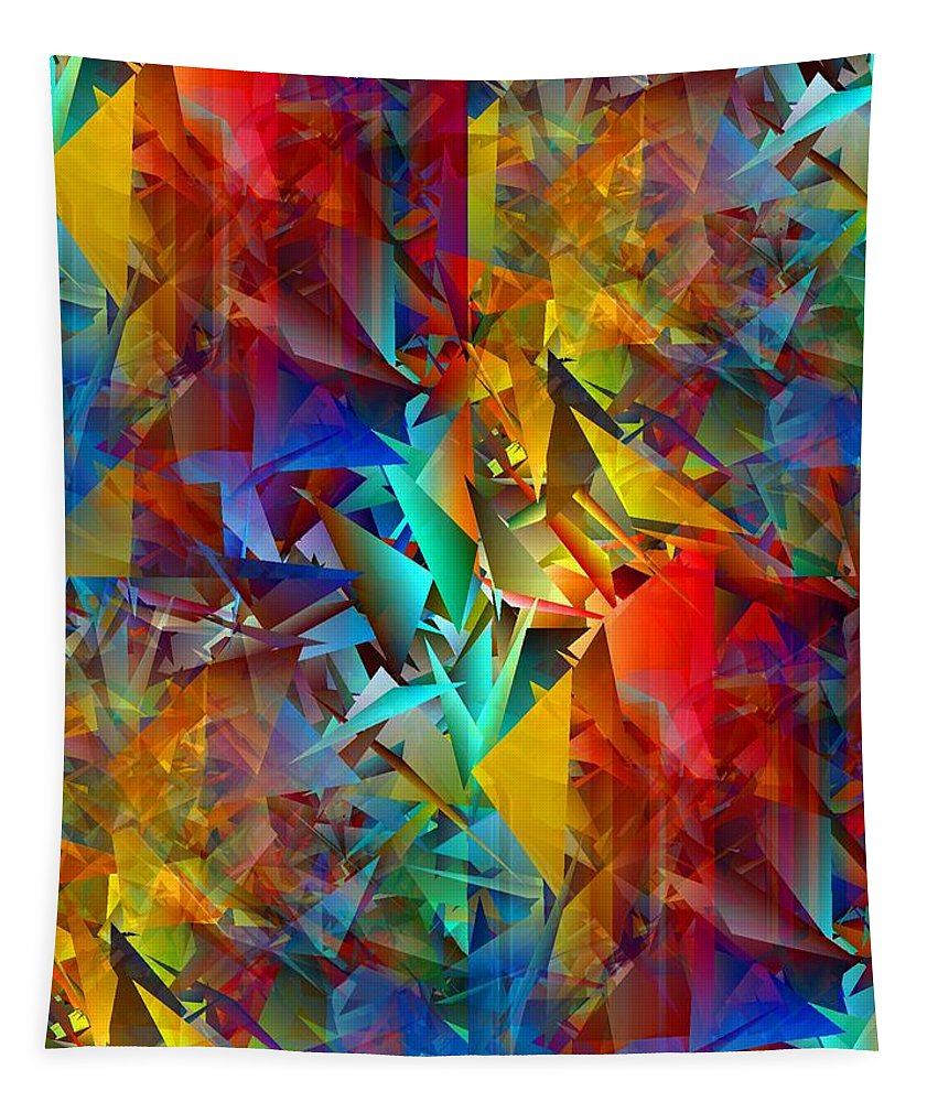Colorful Tapestry featuring the digital art Colorful Crash 11 by Chris Butler