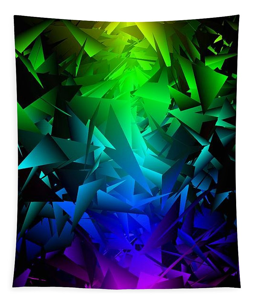 Rainbow Tapestry featuring the digital art Colorful Crash 6 by Chris Butler