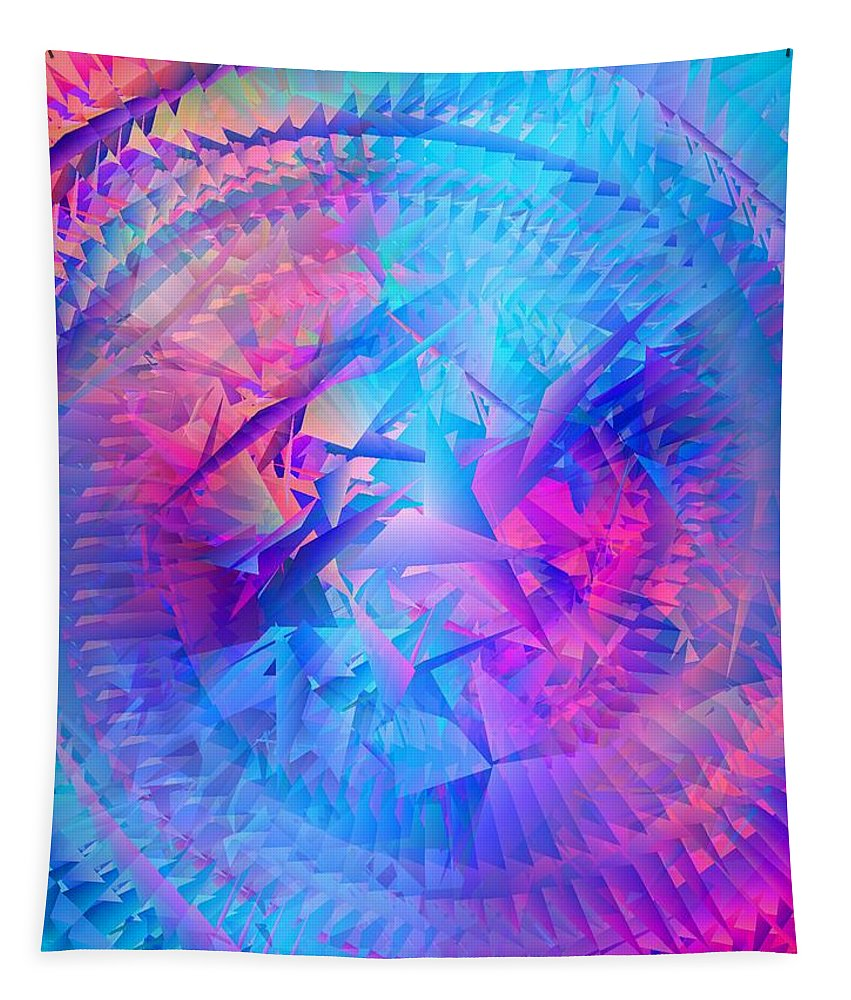 Abstract Tapestry featuring the digital art Colorful Crash 7 by Chris Butler