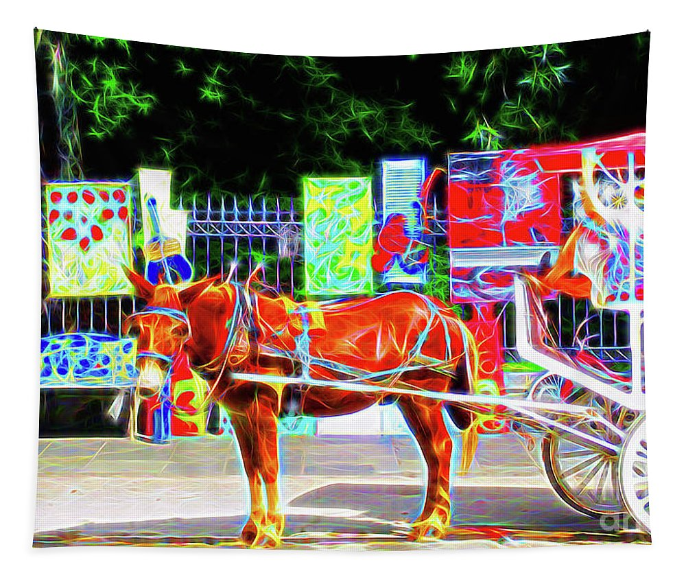 New Orleans Tapestry featuring the photograph Colorful New Orleans by Jerome Stumphauzer