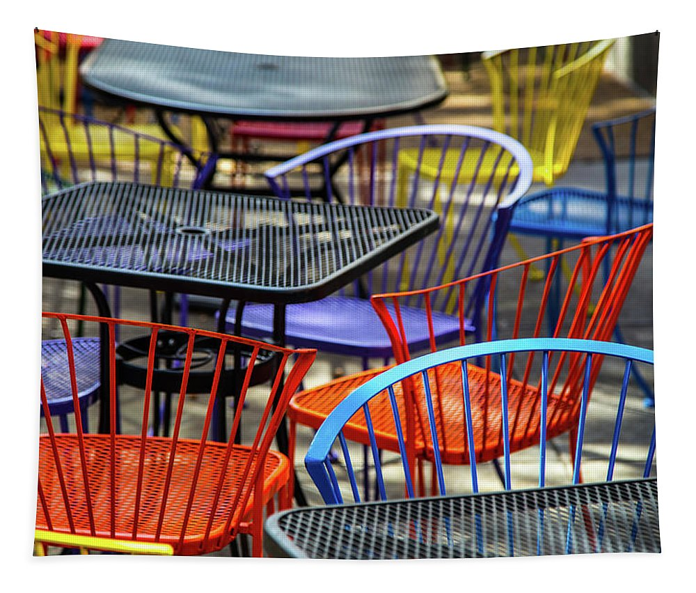 Seating Tapestry featuring the photograph Colorful Seating by Karol Livote