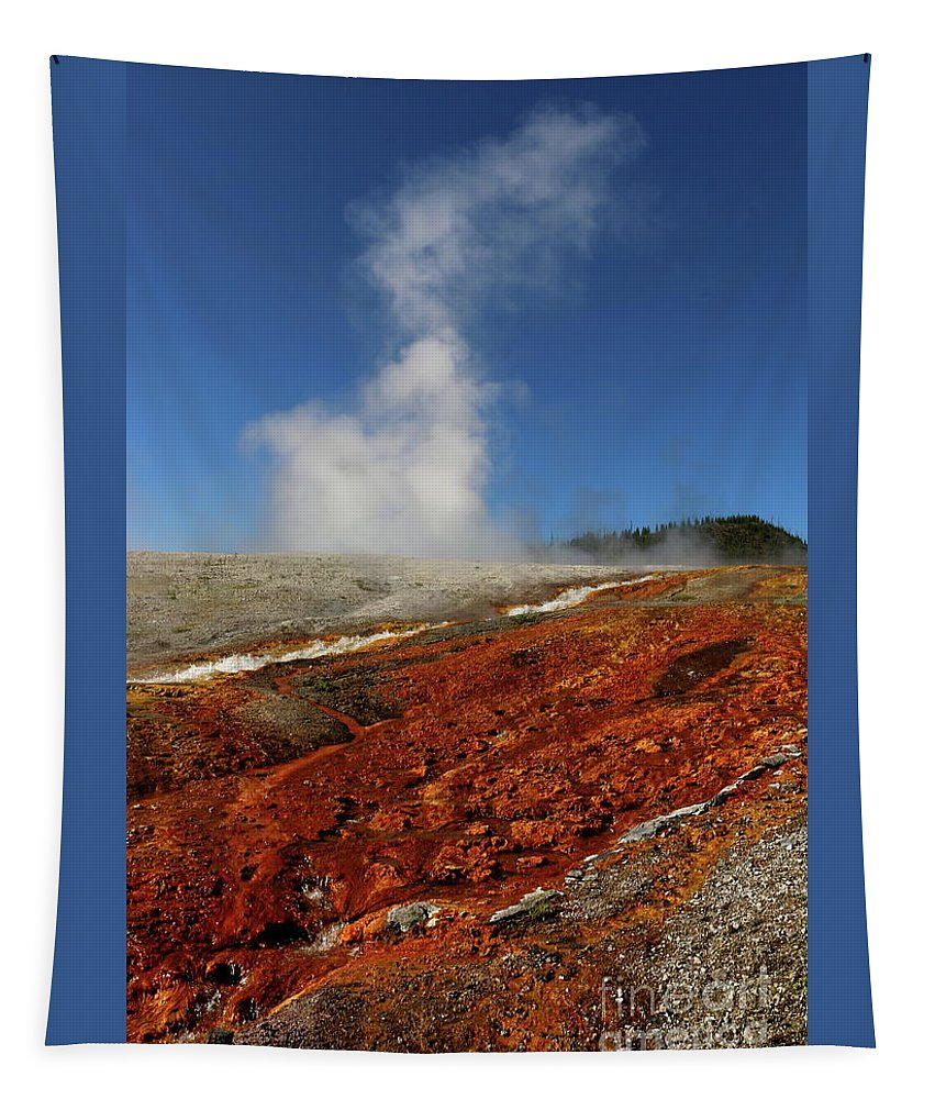 Park Tapestry featuring the photograph Colorful Thermal Area by Christiane Schulze Art And Photography