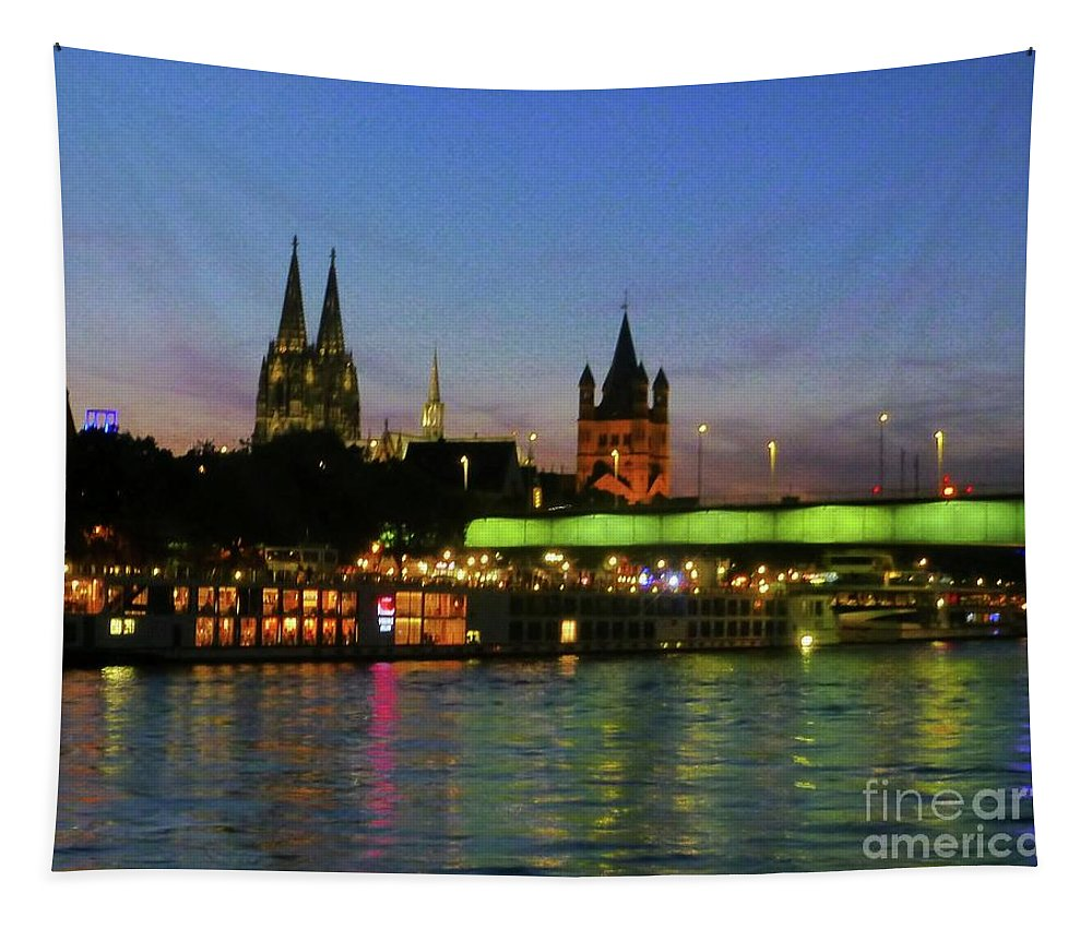 River Tapestry featuring the photograph Colors Of Cologne by Barbie Corbett-Newmin