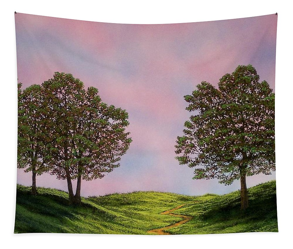 Landscape Tapestry featuring the painting Colors Of Dawn by Frank Wilson