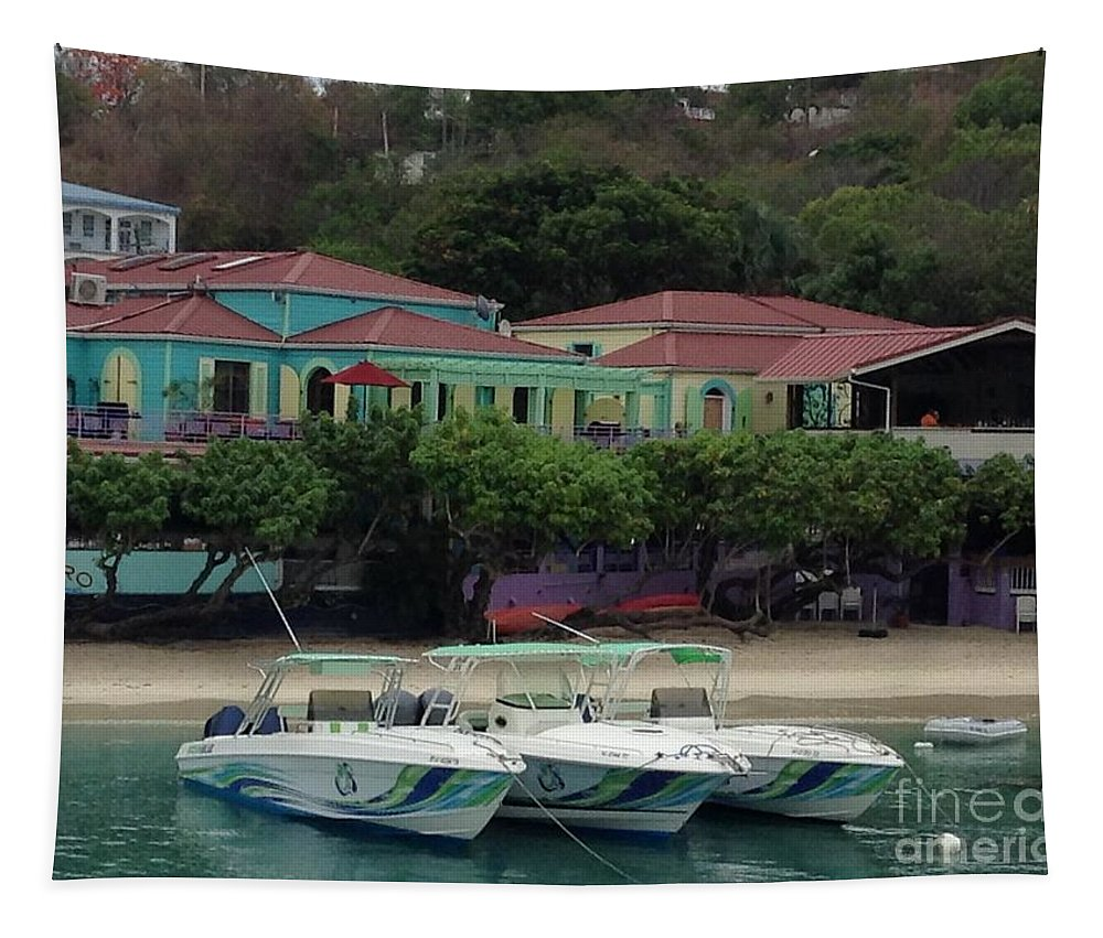 St. John Tapestry featuring the photograph Colors Of St. John Us Virgin Islands by Gina Sullivan