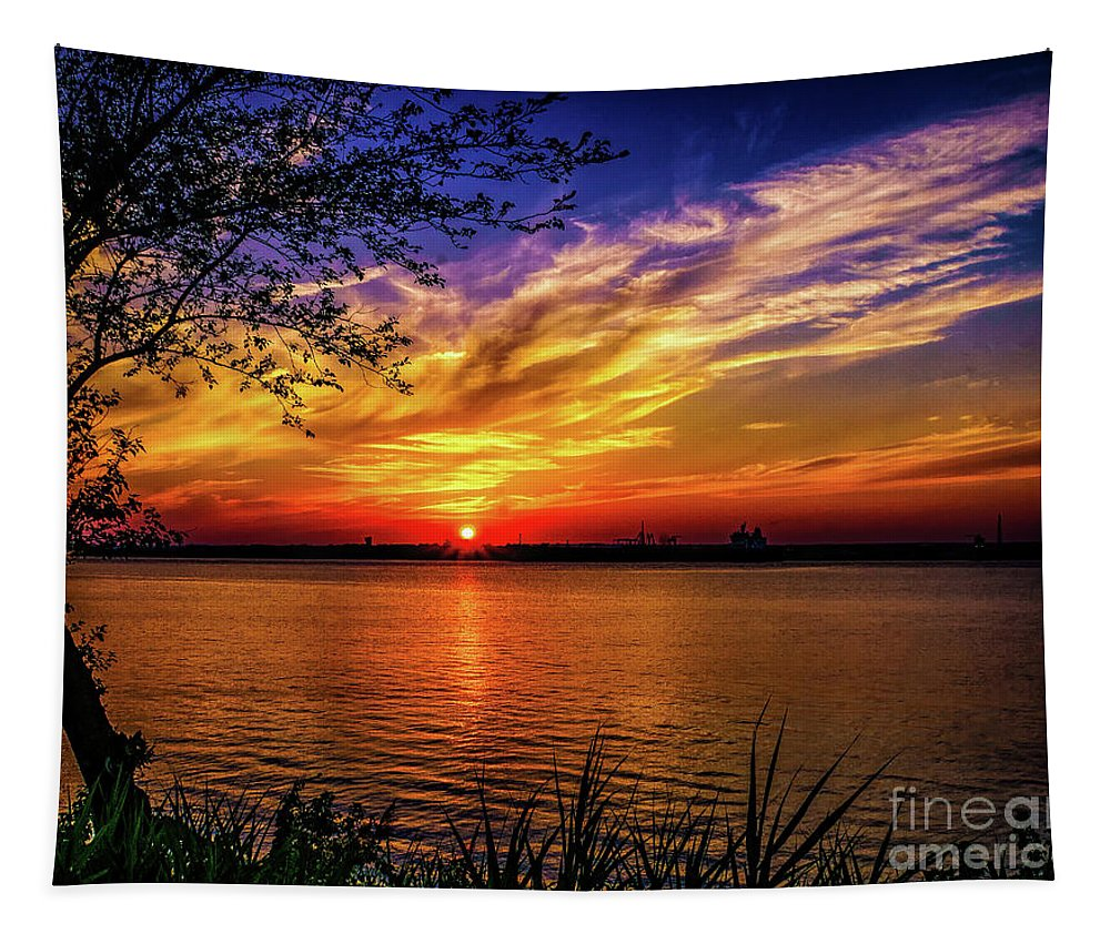 New Jersey Tapestry featuring the photograph Colors Of Sunset by Nick Zelinsky