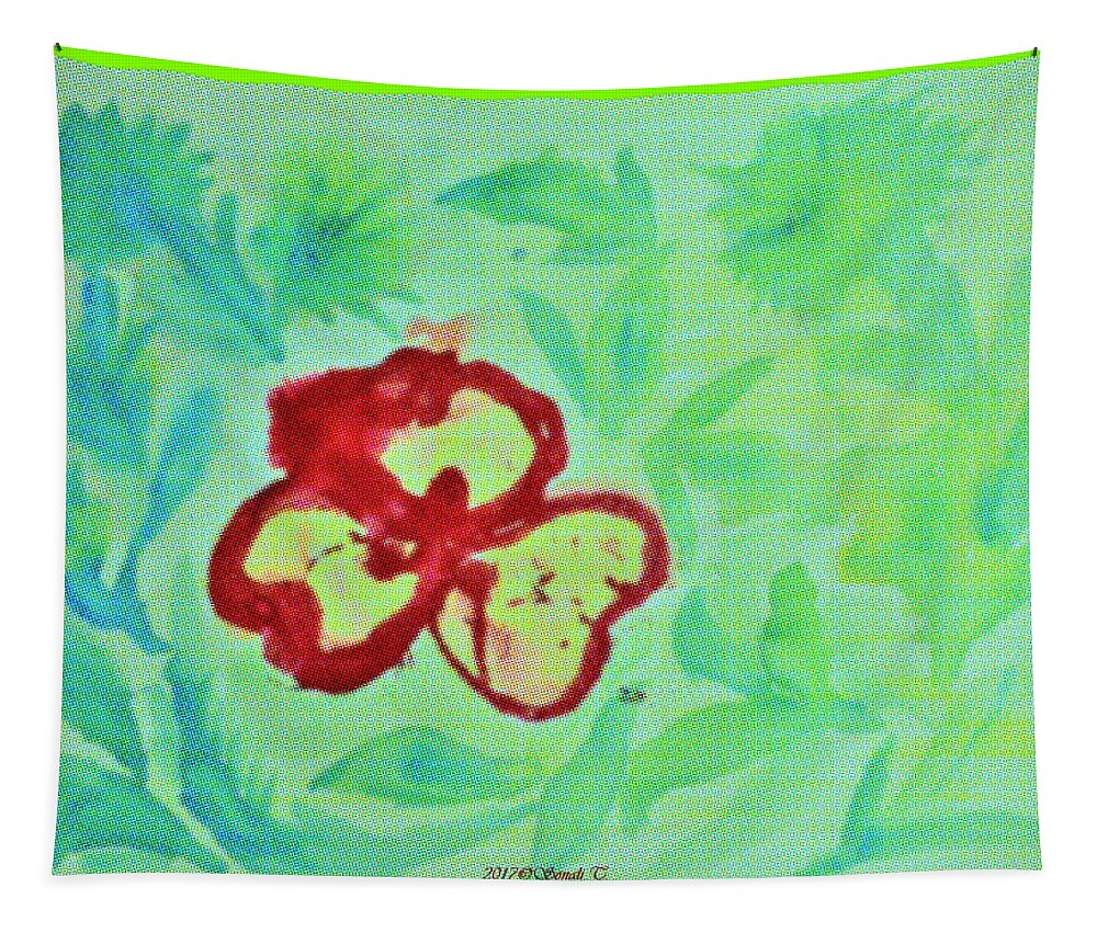 Flower Tapestry featuring the painting Colours At Play by Sonali Gangane