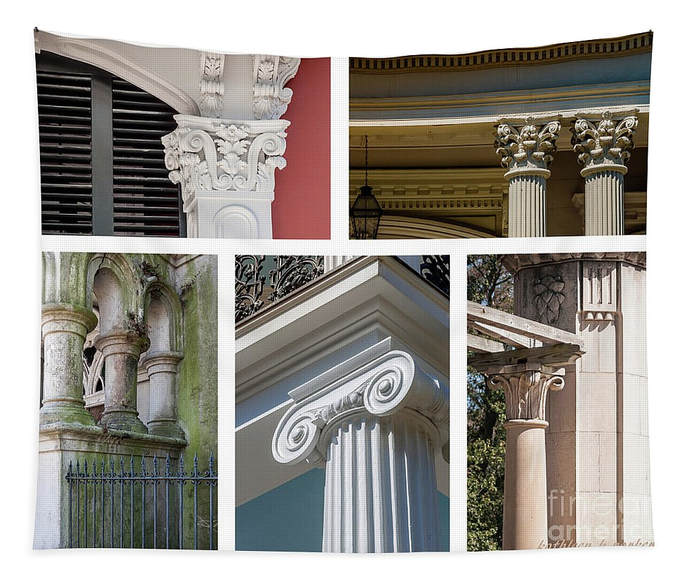 Columns Tapestry featuring the photograph Columns Of New Orleans Collage 2 by Kathleen K Parker