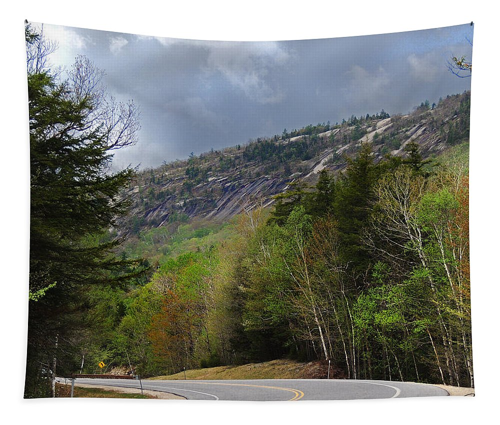 Welch And Dickey Mountains Tapestry featuring the photograph Comin Around The Bend In Campton New Hampshire by Nancy Griswold