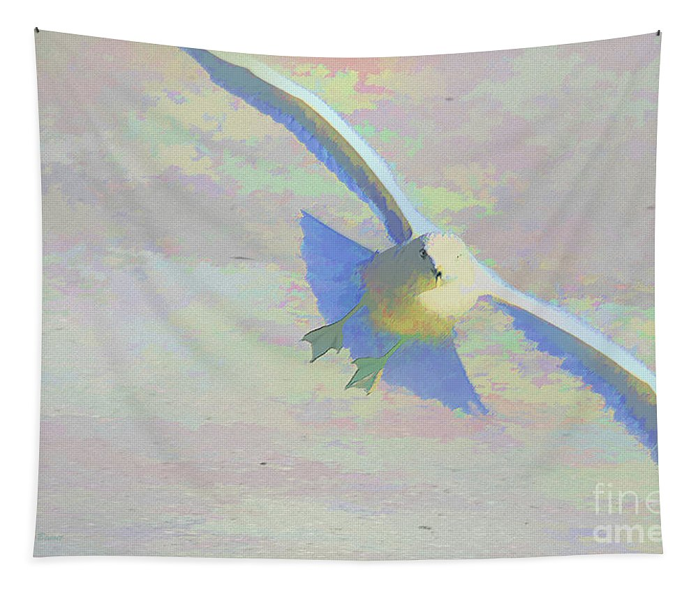 Bird Tapestry featuring the photograph Coming In by Deborah Benoit
