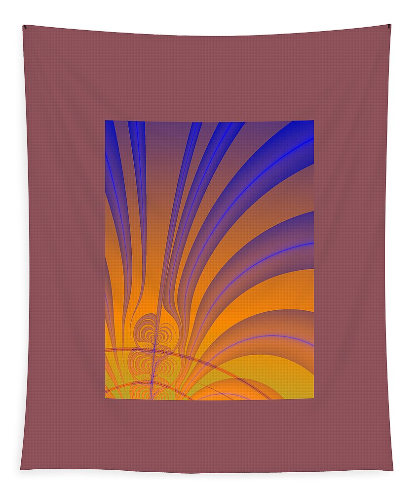 Fractals Tapestry featuring the digital art Complimentary Colors by Lisa Stanley