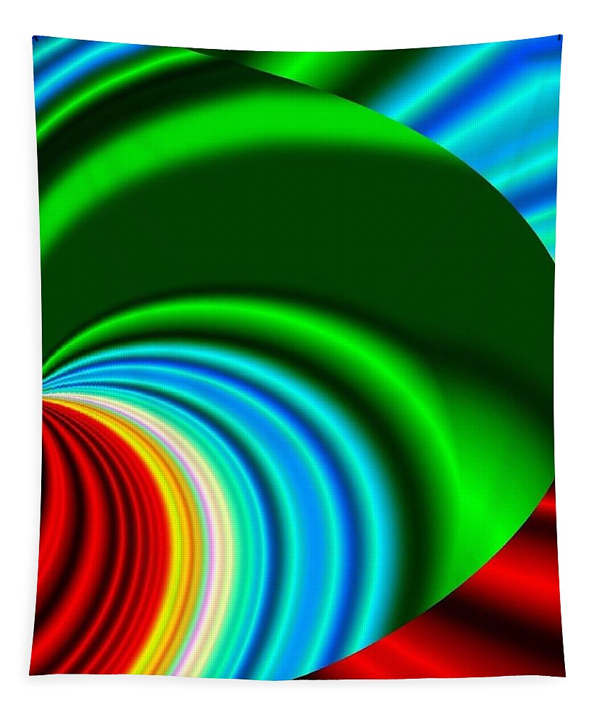 Abstract Tapestry featuring the digital art Conceptual 17 by Will Borden