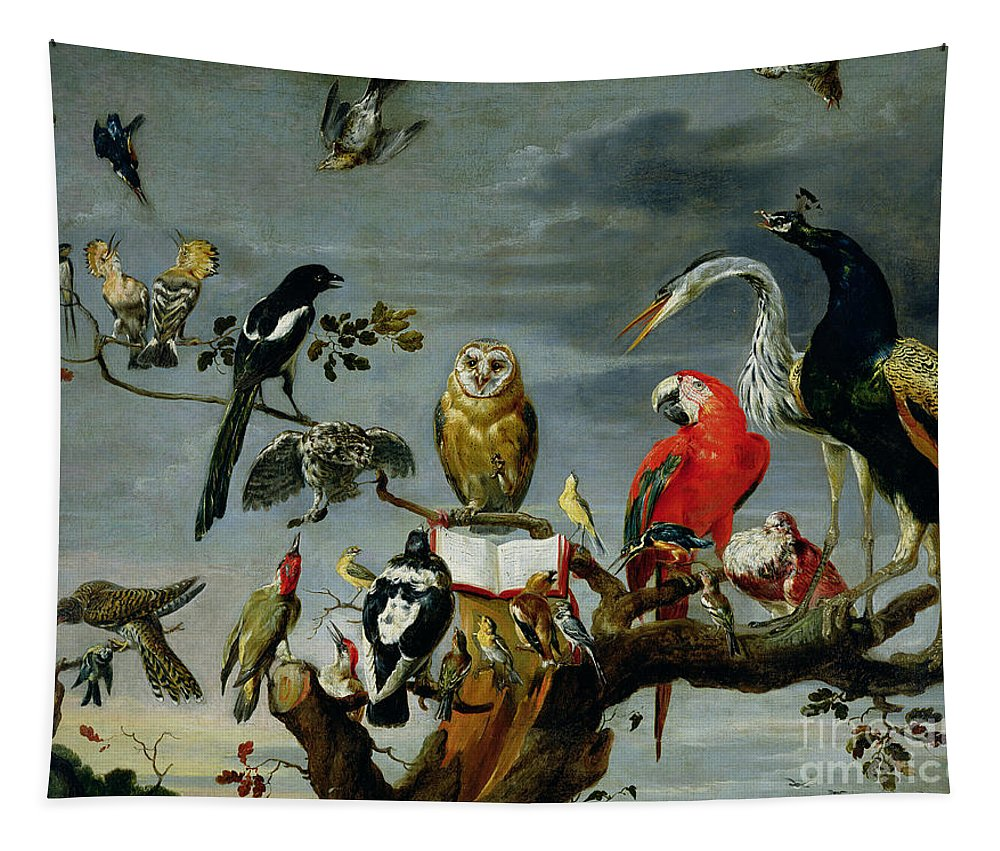 Concert Tapestry featuring the painting Concert Of Birds by Frans Snijders