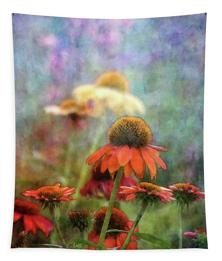 Impressionist Tapestry featuring the photograph Coneflower Garden 2789 Idp_2 by Steven Ward