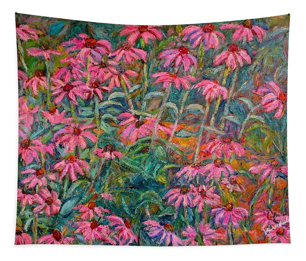 Kendall Kessler Tapestry featuring the painting Coneflowers by Kendall Kessler
