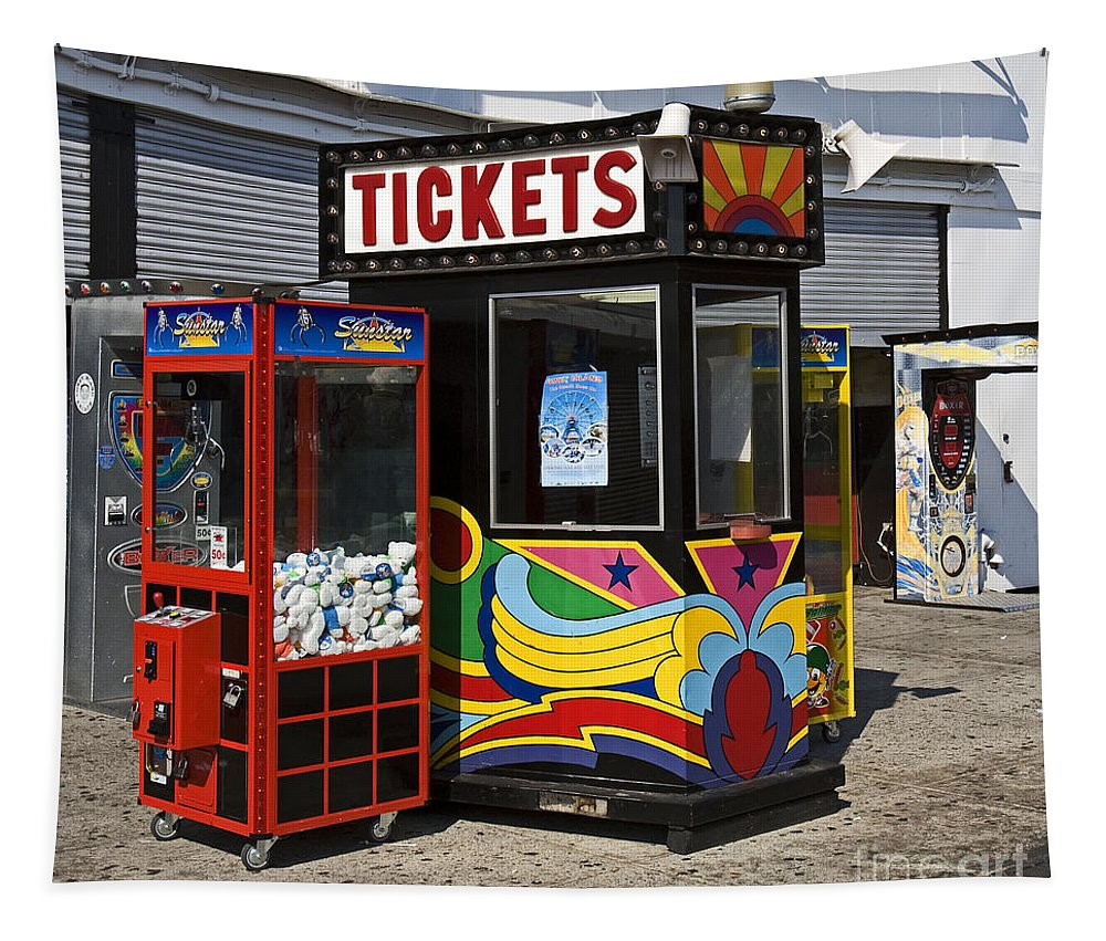Coney Island Tapestry featuring the photograph Coney Island Memories 3 by Madeline Ellis