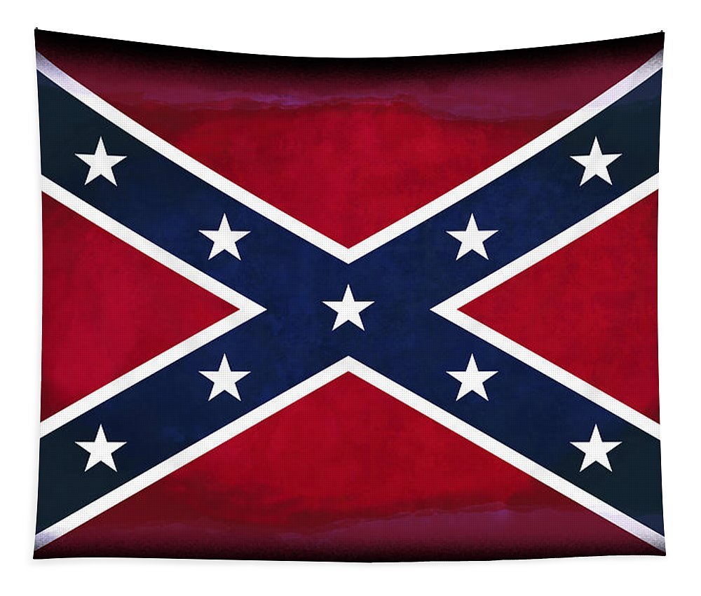 Confederate Flag Tapestry featuring the digital art Confederate Rebel Battle Flag by Daniel Hagerman
