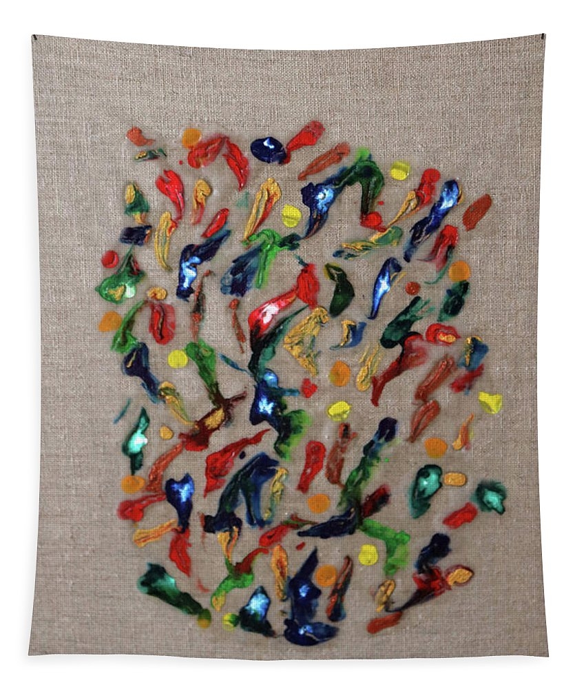 Confetti Tapestry featuring the painting Confetti by Deborah Boyd