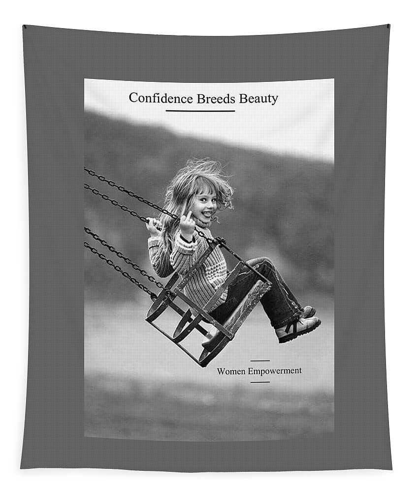 Tapestry featuring the photograph Confidence by Nimu Bajaj and Seema Devjani