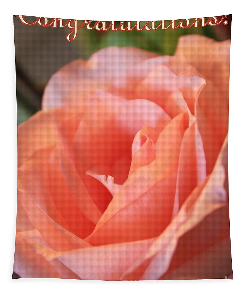 Congratulations Tapestry featuring the photograph Congratulations Card For Girl Or Woman by Carol Groenen