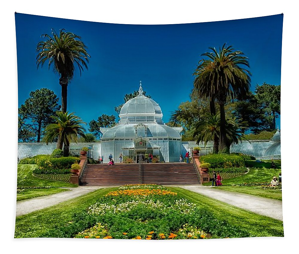 Conservatory Of Flowers Tapestry featuring the photograph Conservatory Of Flowers - San Francisco by Mountain Dreams