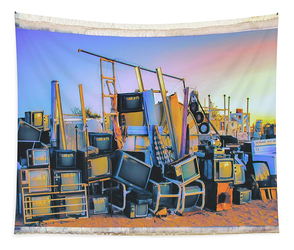 Polaroid Tapestry featuring the photograph Consumed by Dominic Piperata